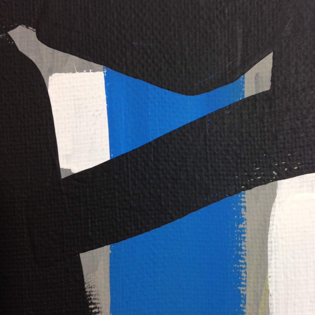 Close-Up 3 Yellow, Red, Blue- Tribute to Esteban Vicente Linda Cleary 2014 Acrylic on Canvas
