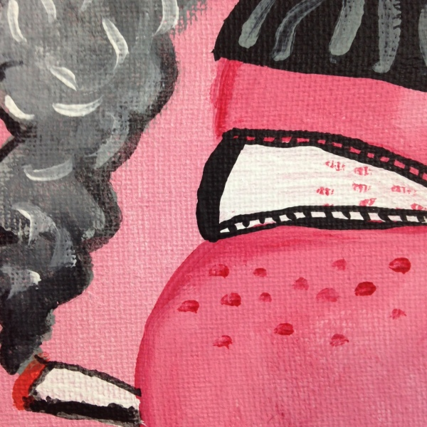 Close-Up 2 Self Portrait in Studio- Philip Guston Linda Cleary 2014 Acrylic on Canvas