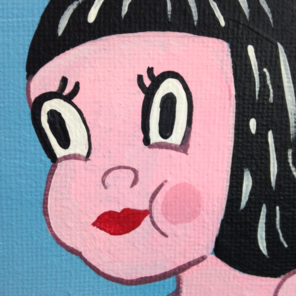 Close-Up 1 Let Me Show You My Dreams- Tribute to Gary Baseman Linda Cleary 2014 Acrylic on Canvas