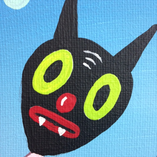 Close-Up 2 Let Me Show You My Dreams- Tribute to Gary Baseman Linda Cleary 2014 Acrylic on Canvas