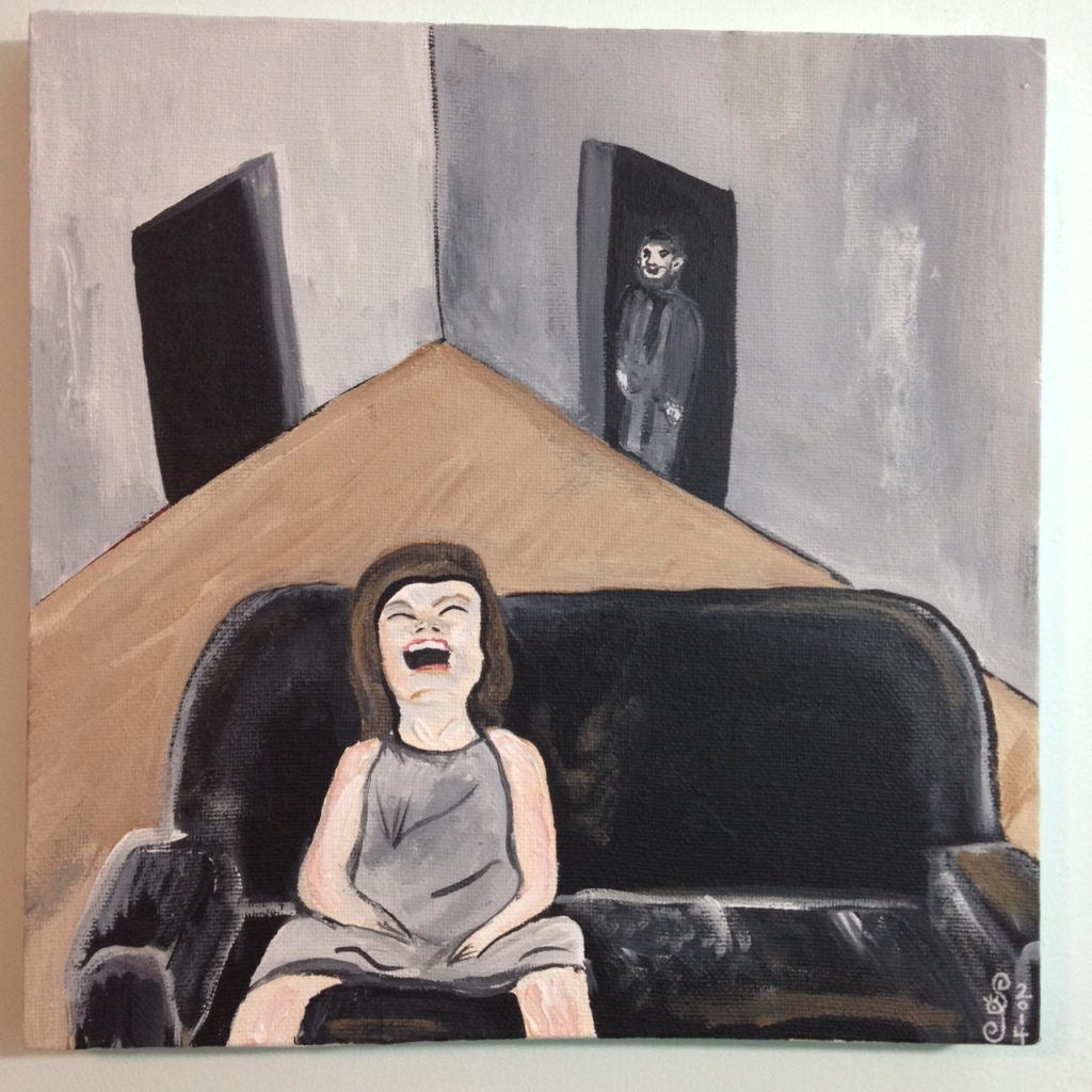 Lachen ist Leben- Tribute to Robert Indermaur Linda Cleary 2014 Acrylic on Canvas