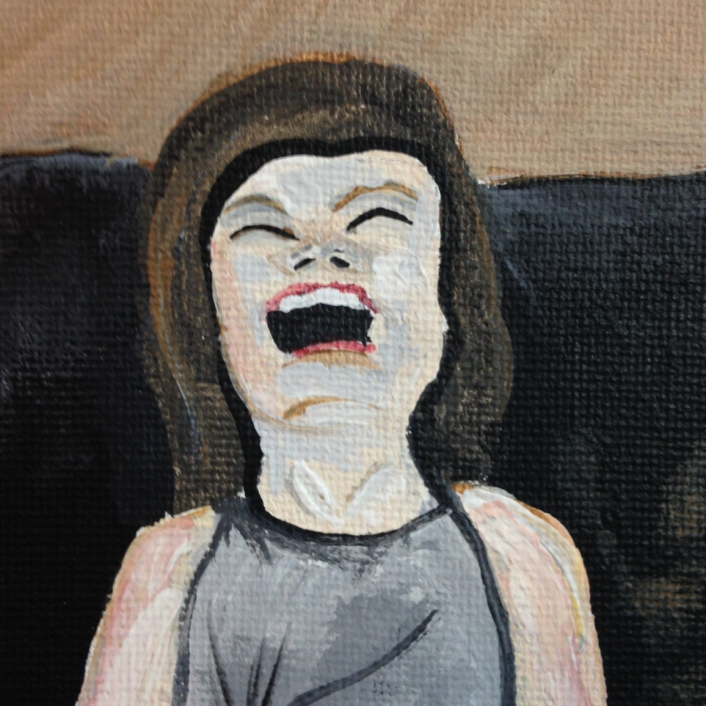 Close-Up 1 Lachen ist Leben- Tribute to Robert Indermaur Linda Cleary 2014 Acrylic on Canvas