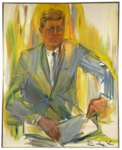 Portrait of John F. Kennedy- Elaine de Kooning