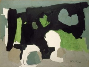 Esteban Vicente. Black, Grey, and Green. 1961. Reina Sofía Museum, Madrid.