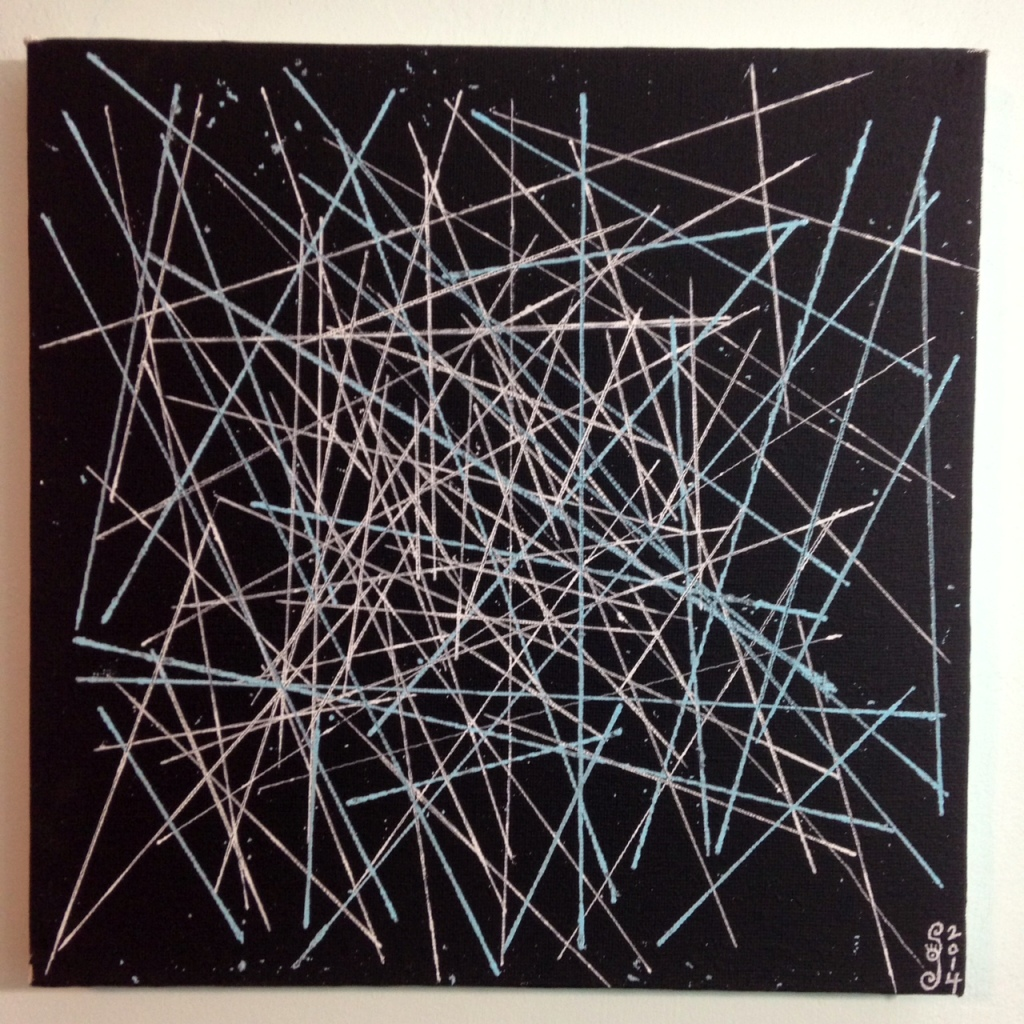 Yes, Stars- Tribute to Lenz Klotz Linda Cleary 2014 Acrylic & Pen on Canvas