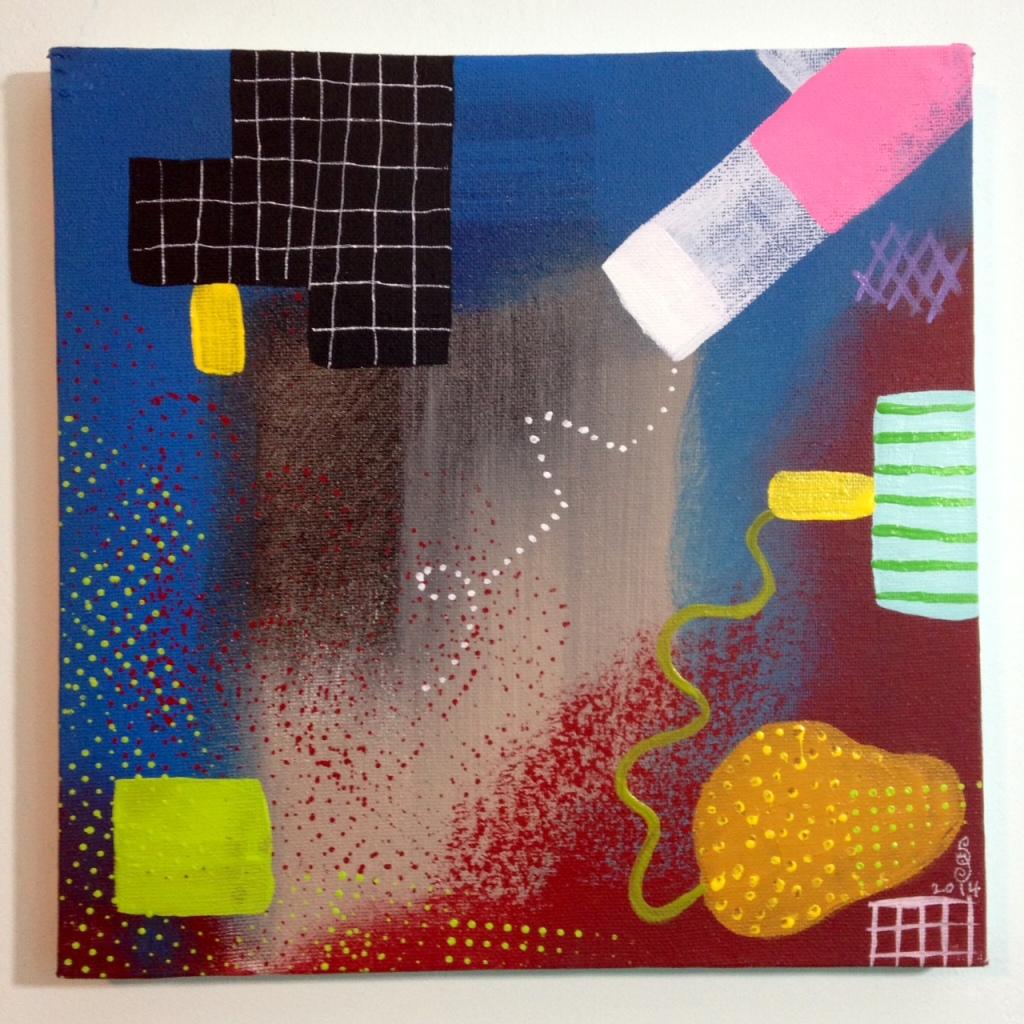 Sonata- Tribute to Robert Natkin Linda Cleary 2014 Acrylic on Canvas