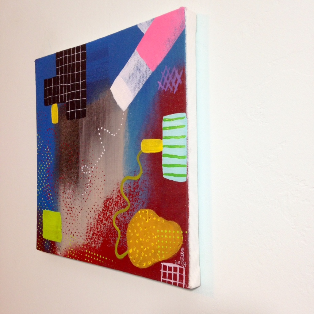 Side-View Sonata- Tribute to Robert Natkin Linda Cleary 2014 Acrylic on Canvas