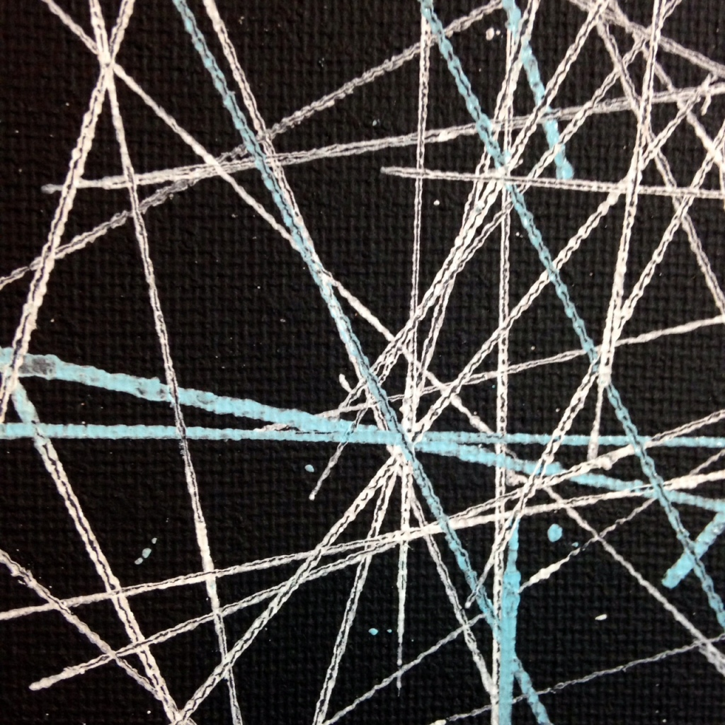 Close-Up 1 Yes, Stars- Tribute to Lenz Klotz Linda Cleary 2014 Acrylic & Pen on Canvas