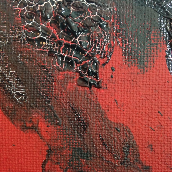 Close-Up 1 Feuer und Rauch- Tribute to Otto Piene Linda Cleary 2014 Acrylic and Burning on Canvas