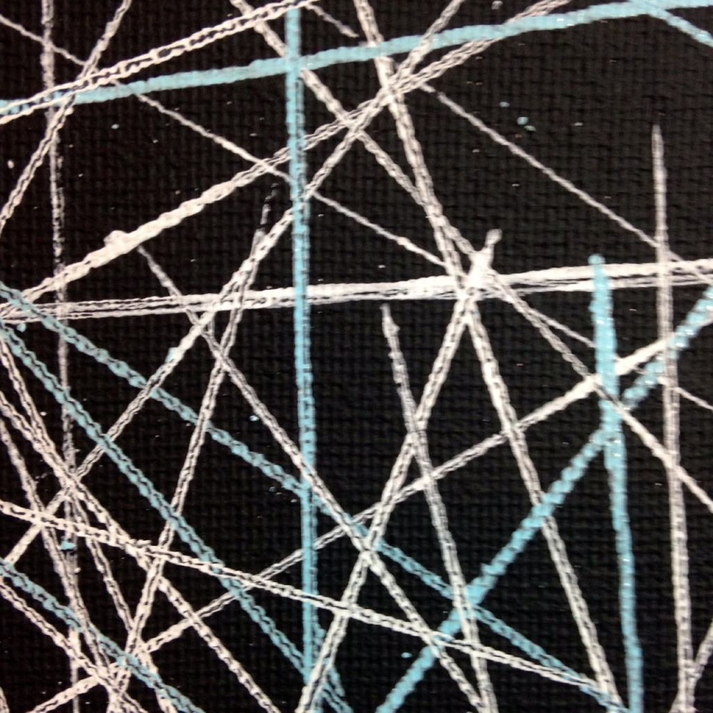 Close-Up 2 Yes, Stars- Tribute to Lenz Klotz Linda Cleary 2014 Acrylic & Pen on Canvas