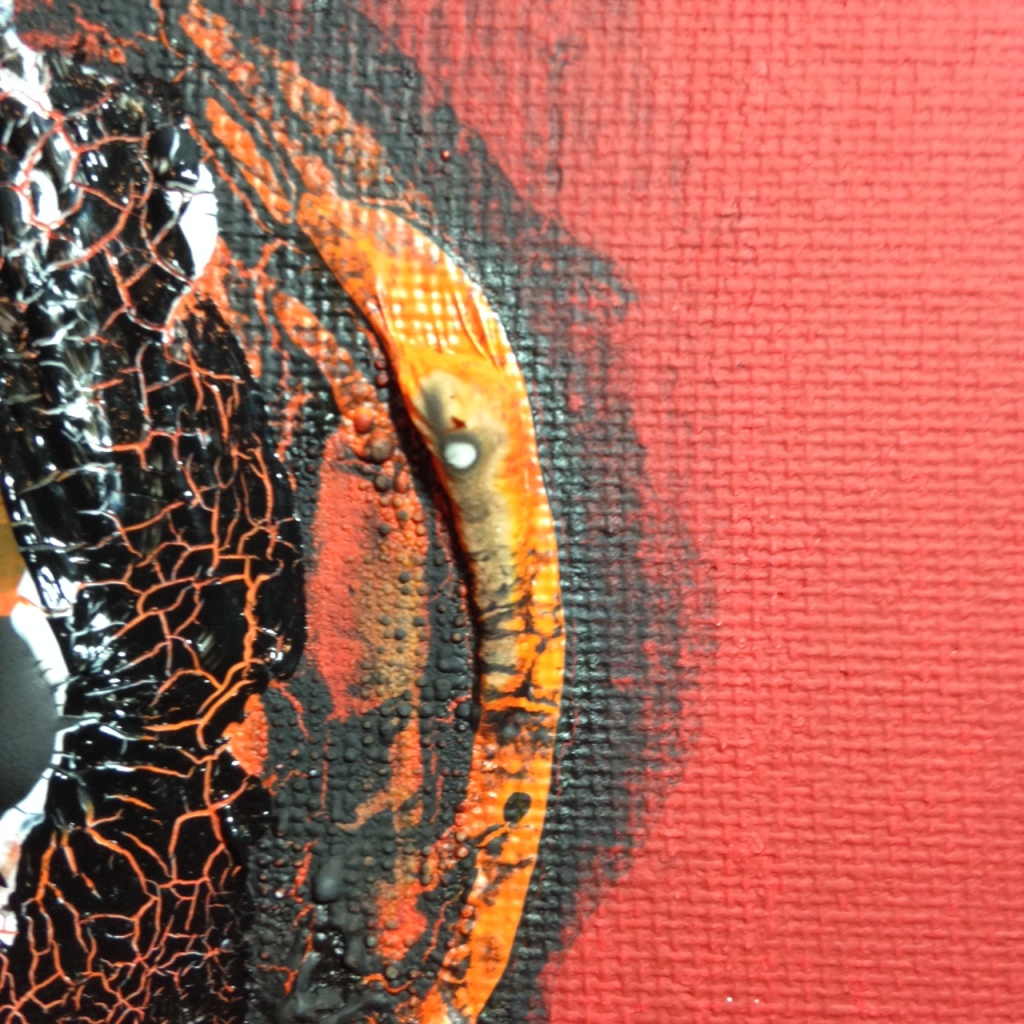 Close-Up 3 Feuer und Rauch- Tribute to Otto Piene Linda Cleary 2014 Acrylic and Burning on Canvas