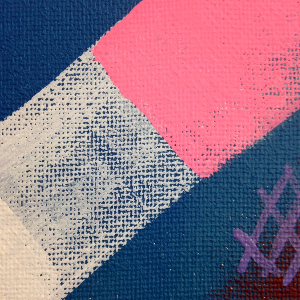 Close-Up 3 Sonata- Tribute to Robert Natkin Linda Cleary 2014 Acrylic on Canvas
