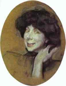 Portrait of Anna Benois- Valentin Serov