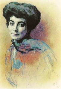 Portrait of Helena Ivanovna Roerich- Valentin Serov