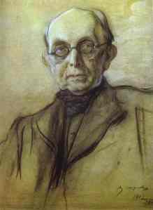 Portrait of Pobedonostsev- Valentin Serov