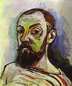 Self-Portrait in Striped Shirt- Henri Matisse