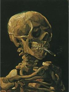 Skull with Burning Cigarette- Vincent Van Gogh