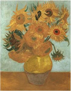 Still Life Vase with Twelve Sunflowers- Vincent Van Gogh