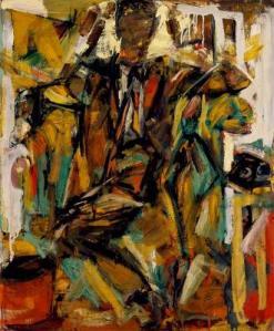 Elaine de Kooning, Al Lazar (Man in a Hotel Room), 1954