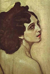 Portrait of Ida Rubinstein- Valentin Serov