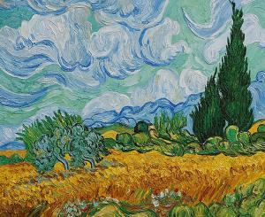 A Wheatfield with Cypresses, Vincent Van Gogh, 1889