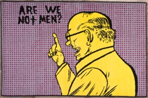 Are We Not Men? Rug- Mark Mothersbaugh