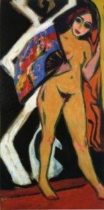 Do Do with Large Fan- Ernst Ludwig Kirchner
