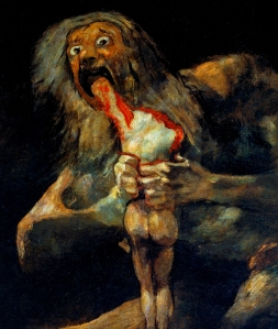 Satan Devouring His Son- Francisco De Goya