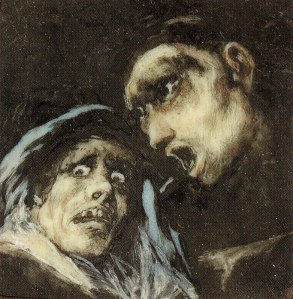 Monk Talking to an Old Woman- Francisco De Goya