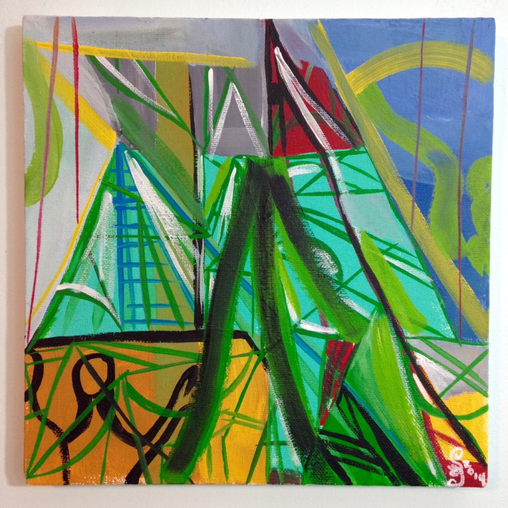 Meet Me There- Tribute to Amy Sillman Linda Cleary 2014 Acrylic on Canvas