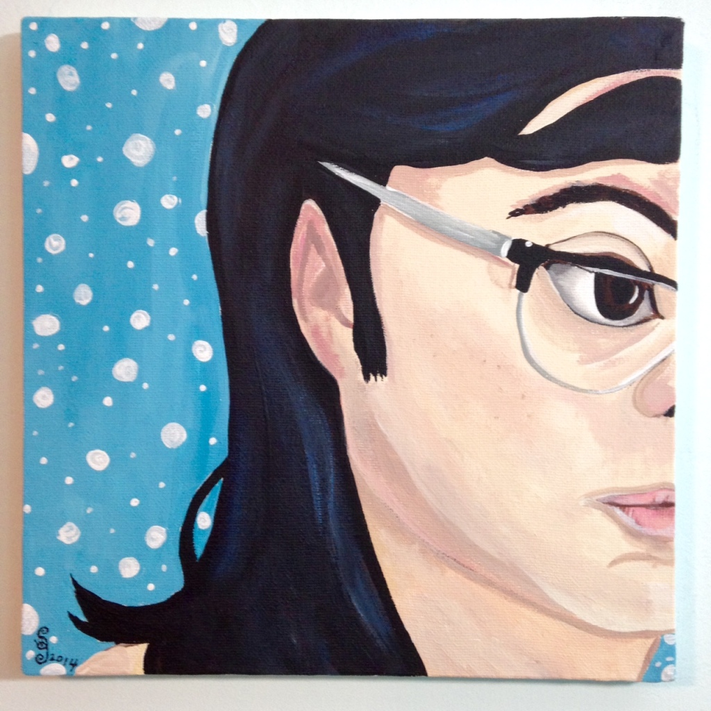 The Blues- Tribute to Elena Sisto Linda Cleary 2014 Acrylic on Canvas