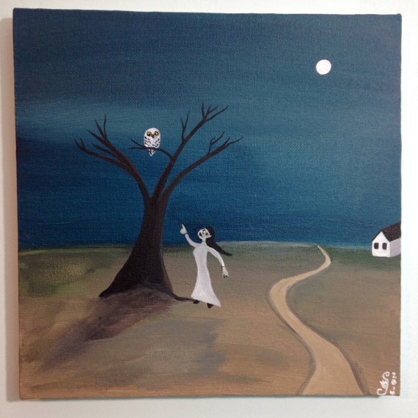 Spirit Friend- Tribute to Gertrude Abercrombie Linda Cleary 2014 Acrylic on Canvas
