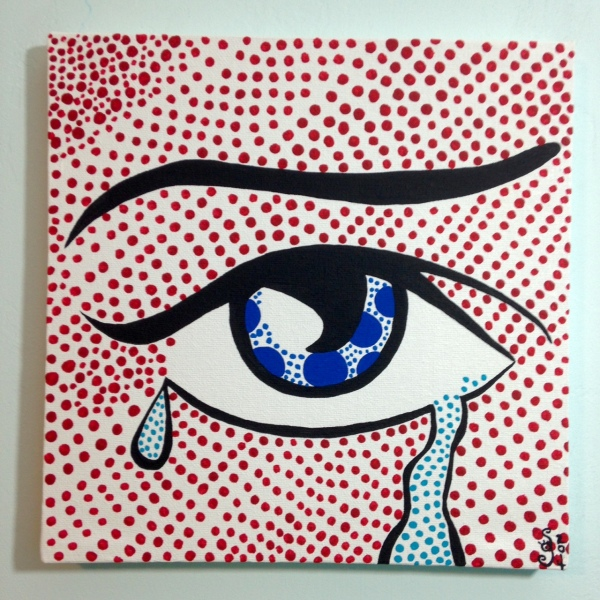 Regret- Tribute to Roy Lichtenstein Linda Cleary 2014 Acrylic on Canvas