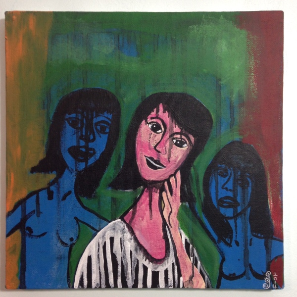 Block Them Out- Tribute to Grace Hartigan Linda Cleary 2014 Acrylic on Canvas