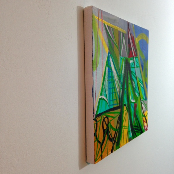 Side-View Meet Me There- Tribute to Amy Sillman Linda Cleary 2014 Acrylic on Canvas