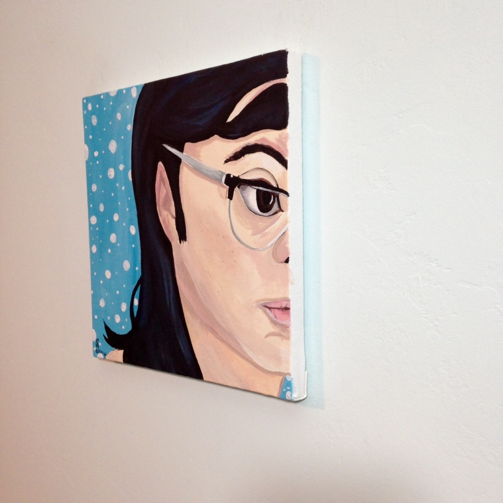 Side-View The Blues- Tribute to Elena Sisto Linda Cleary 2014 Acrylic on Canvas