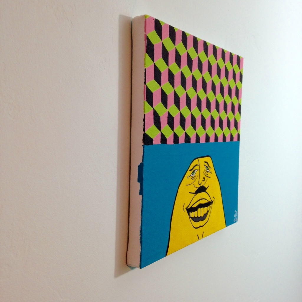 Side-View My Secret Friend- Tribute to Barry McGee Linda Cleary 2014 Acrylic on Canvas