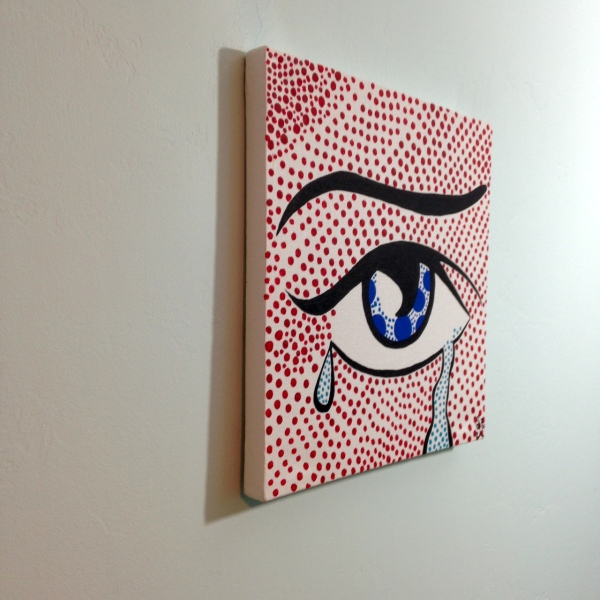 Side-View Regret- Tribute to Roy Lichtenstein Linda Cleary 2014 Acrylic on Canvas