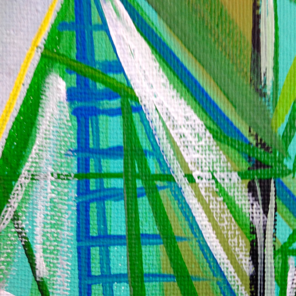 Close-Up 1 Meet Me There- Tribute to Amy Sillman Linda Cleary 2014 Acrylic on Canvas