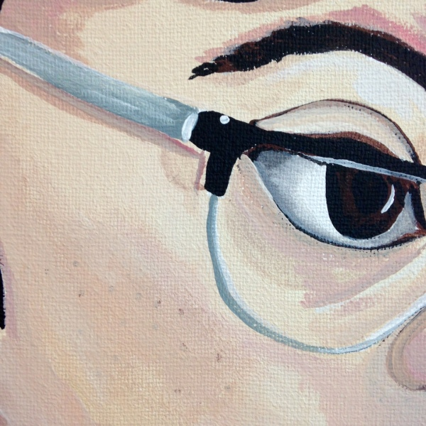 Close-Up 1 The Blues- Tribute to Elena Sisto Linda Cleary 2014 Acrylic on Canvas