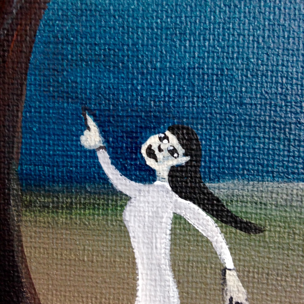 Close-Up 2 Spirit Friend- Tribute to Gertrude Abercrombie Linda Cleary 2014 Acrylic on Canvas