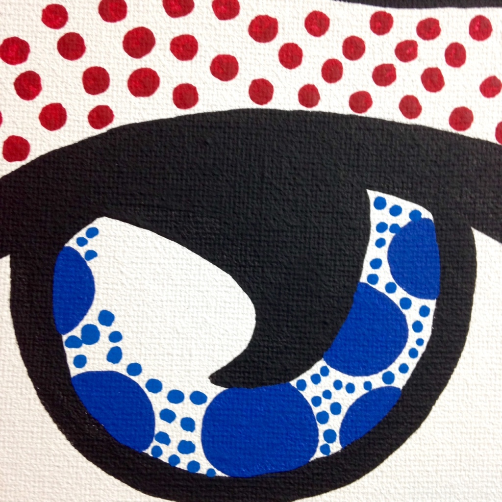 Close-Up 3 Regret- Tribute to Roy Lichtenstein Linda Cleary 2014 Acrylic on Canvas