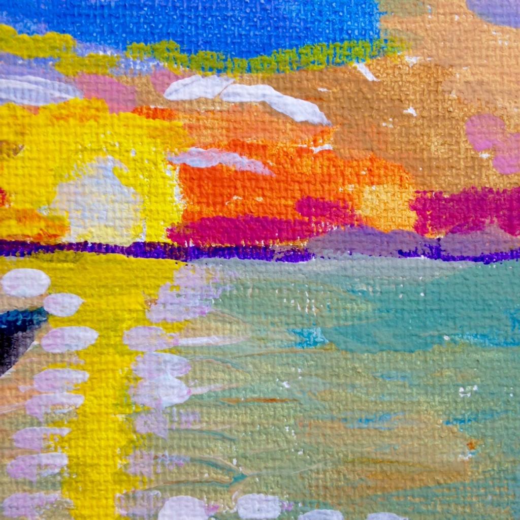 Close-Up 2 Voilier sur l'eau- Tribute to André Derain Linda Cleary 2014 Acrylic on Canvas