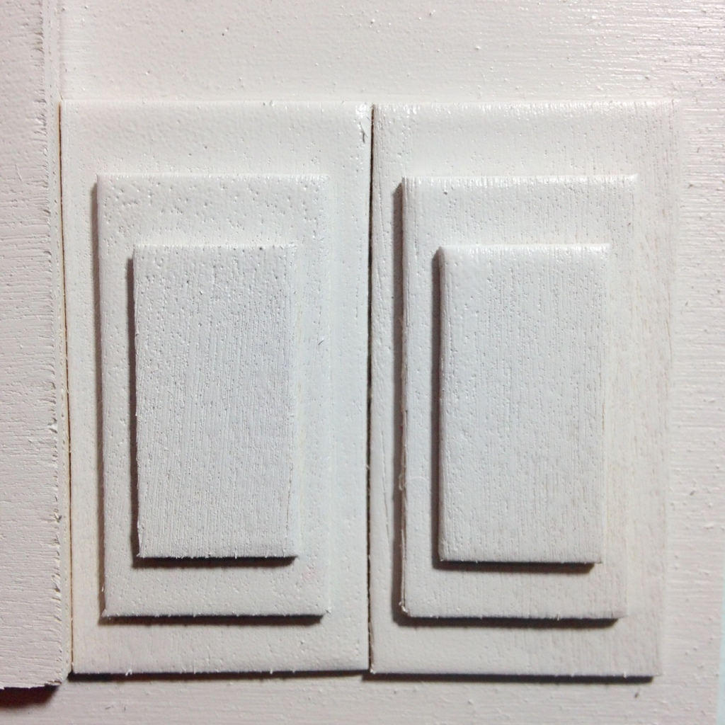 Close-Up 2 Rechthoeken En Vierkanten- Tribute to Ad Dekkers Linda Cleary 2014 Mixed-Media on Wood Panel