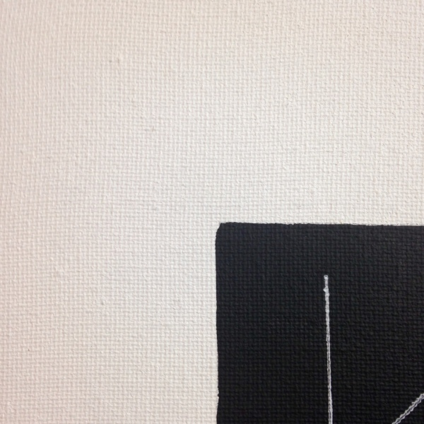 Close-Up 2 Untitled 311- Tribute to Fred Sandback Linda Cleary 2014 Acrylic & Pen on Canvas