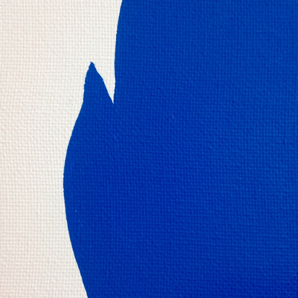 Close-Up 2 Me in Blue- Tribute to John Baldessari Linda Cleary 2014 Mixed-Media on Canvas
