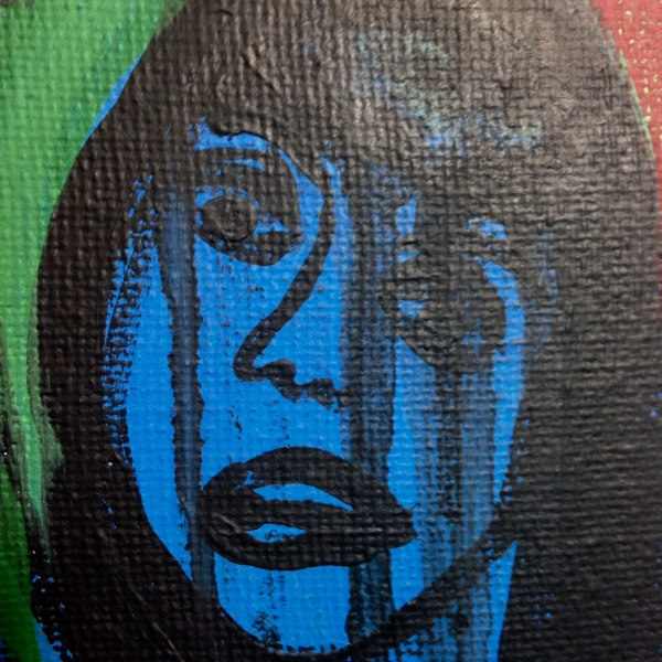 Close-Up 2 Block Them Out- Tribute to Grace Hartigan Linda Cleary 2014 Acrylic on Canvas