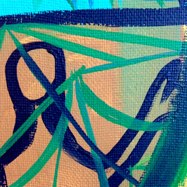 Close-Up 2 Meet Me There- Tribute to Amy Sillman Linda Cleary 2014 Acrylic on Canvas