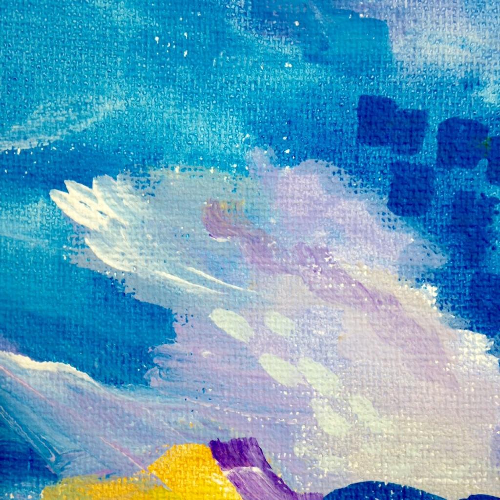 Close-Up 3 Voilier sur l'eau- Tribute to André Derain Linda Cleary 2014 Acrylic on Canvas