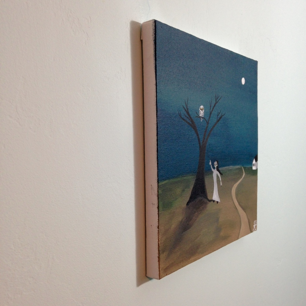 Side-View Spirit Friend- Tribute to Gertrude Abercrombie Linda Cleary 2014 Acrylic on Canvas